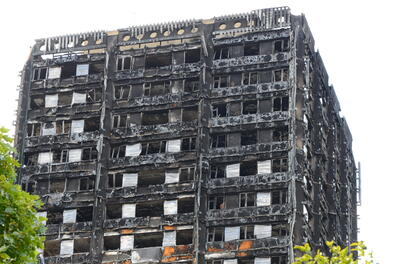 The Grenfell Tower after the fire.